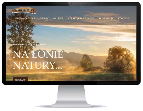 portfolio stron WWW / ranczo nad rzeką