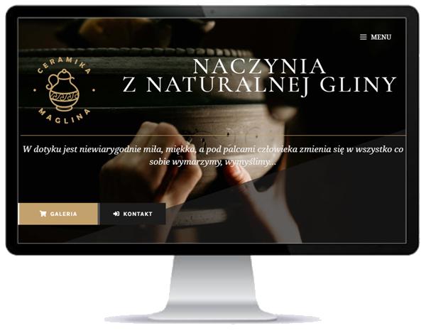 strona WWW pracowni ceramicznej w Opolu